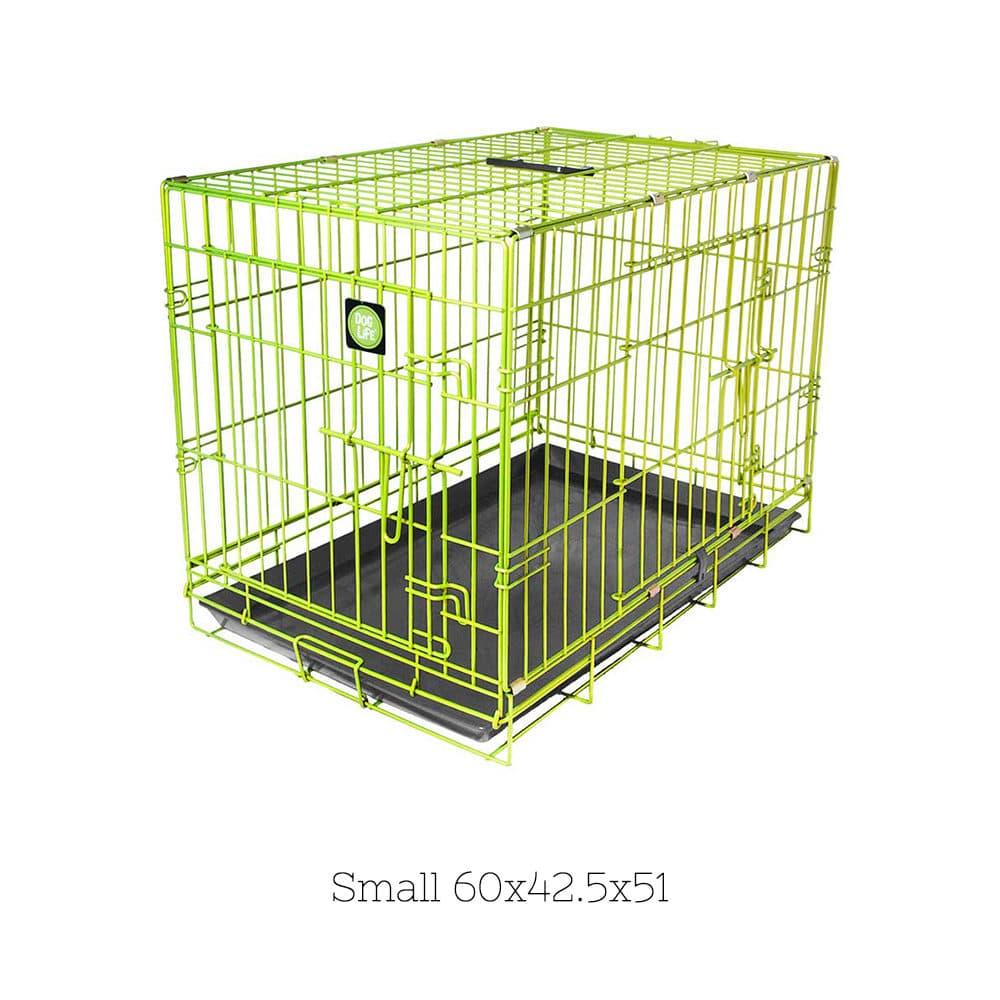 8ef731b281d4 Κλουβί Συρμάτινο Crate για Σκύλους DogLife με δύο Πόρτες και Κλείδωμα  Ασφαλείας Medium Πράσινο 76x48x55cm 64