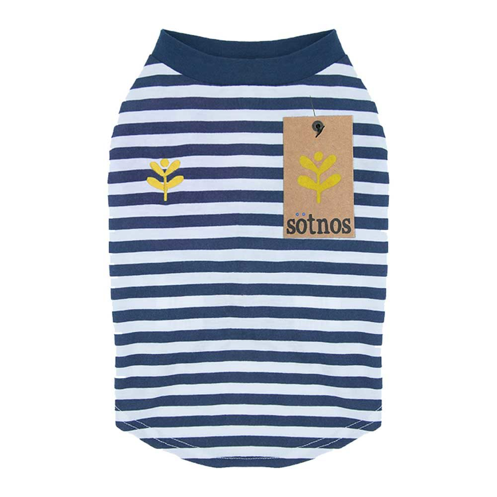 f28219dc3077 Mπλουζάκι για Σκύλους Breton t-shirt της Sötnos Dogwear με Ναυτικές Ρίγες  και Κίτρινη Λεπτομέρεια Extra Small 17