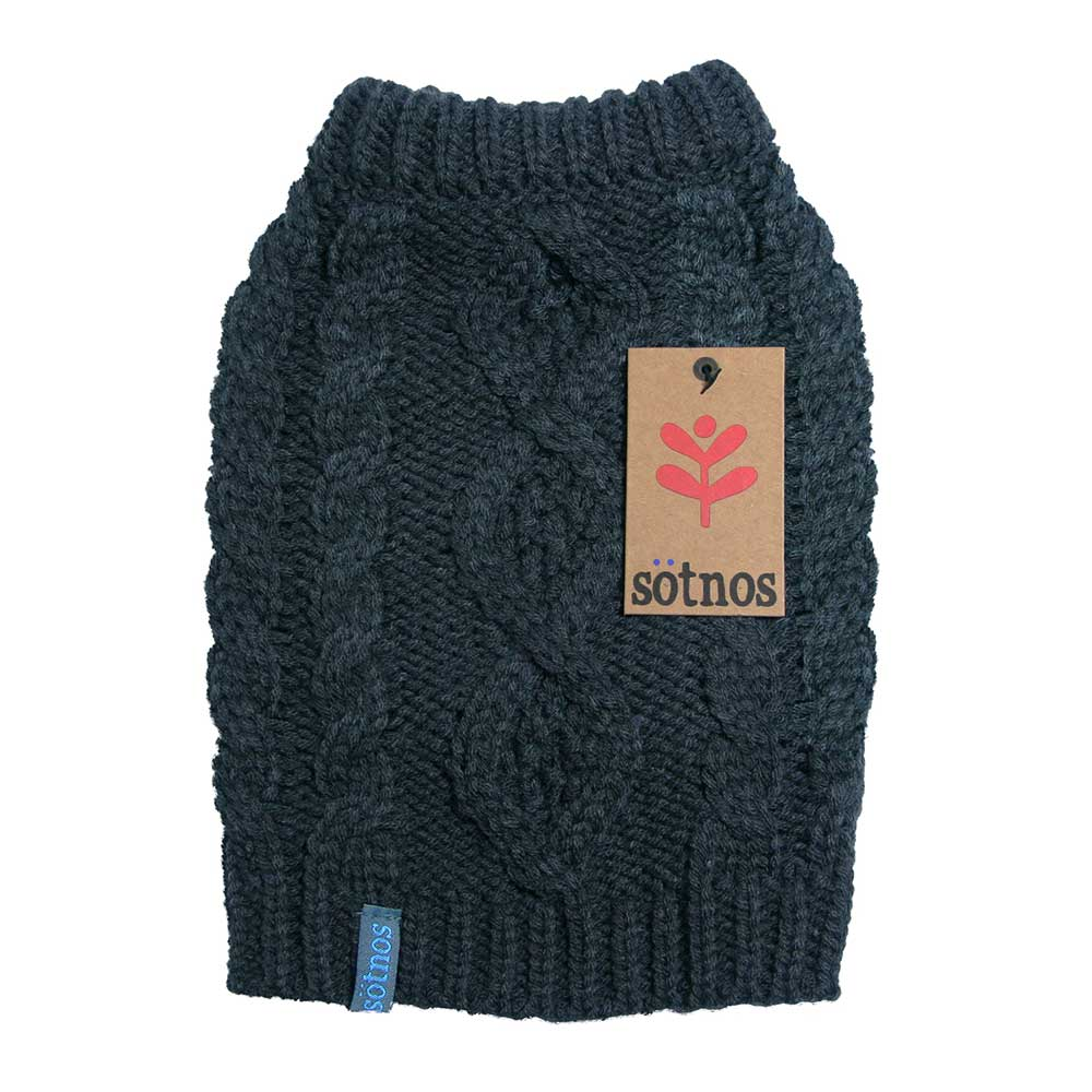 5e41ded38223 Πουλόβερ για Σκύλους Cable Knit της Sötnos Dogwear με Χοντρή Πλέξη ...