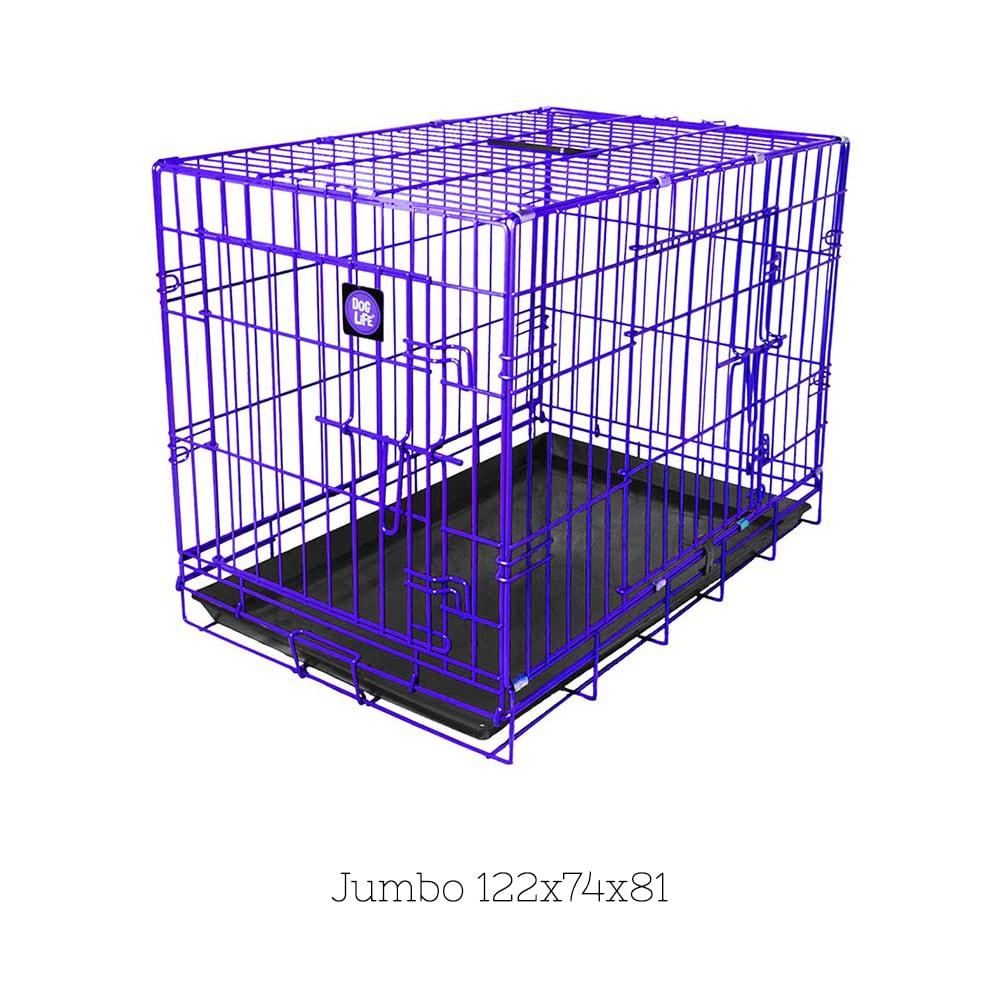 9cd0e5e27c5e Κλουβί Συρμάτινο Crate για Σκύλους DogLife με δύο Πόρτες και Κλείδωμα  Ασφαλείας Large Μπλε 91x56x64cm 85