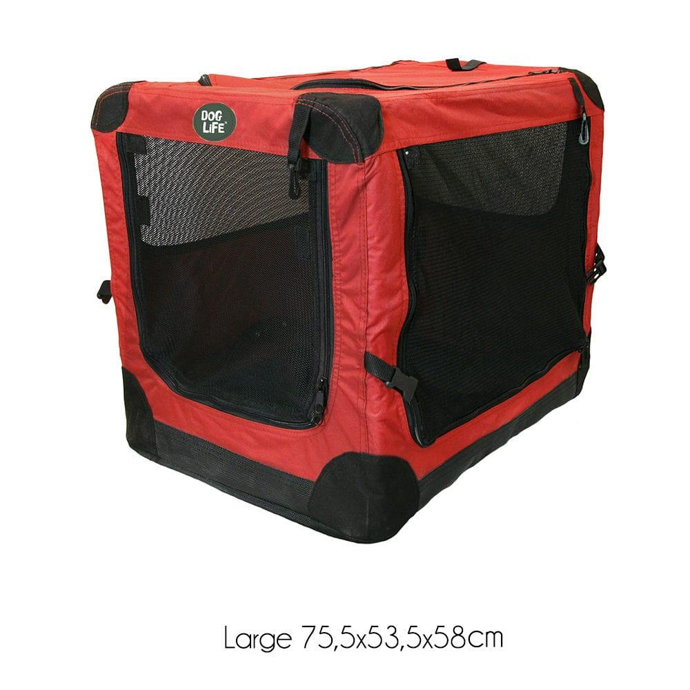 f3a0164c4968 Box Μεταφοράς για Σκύλους DogLife Canvas Crate Μπορντω Large 75