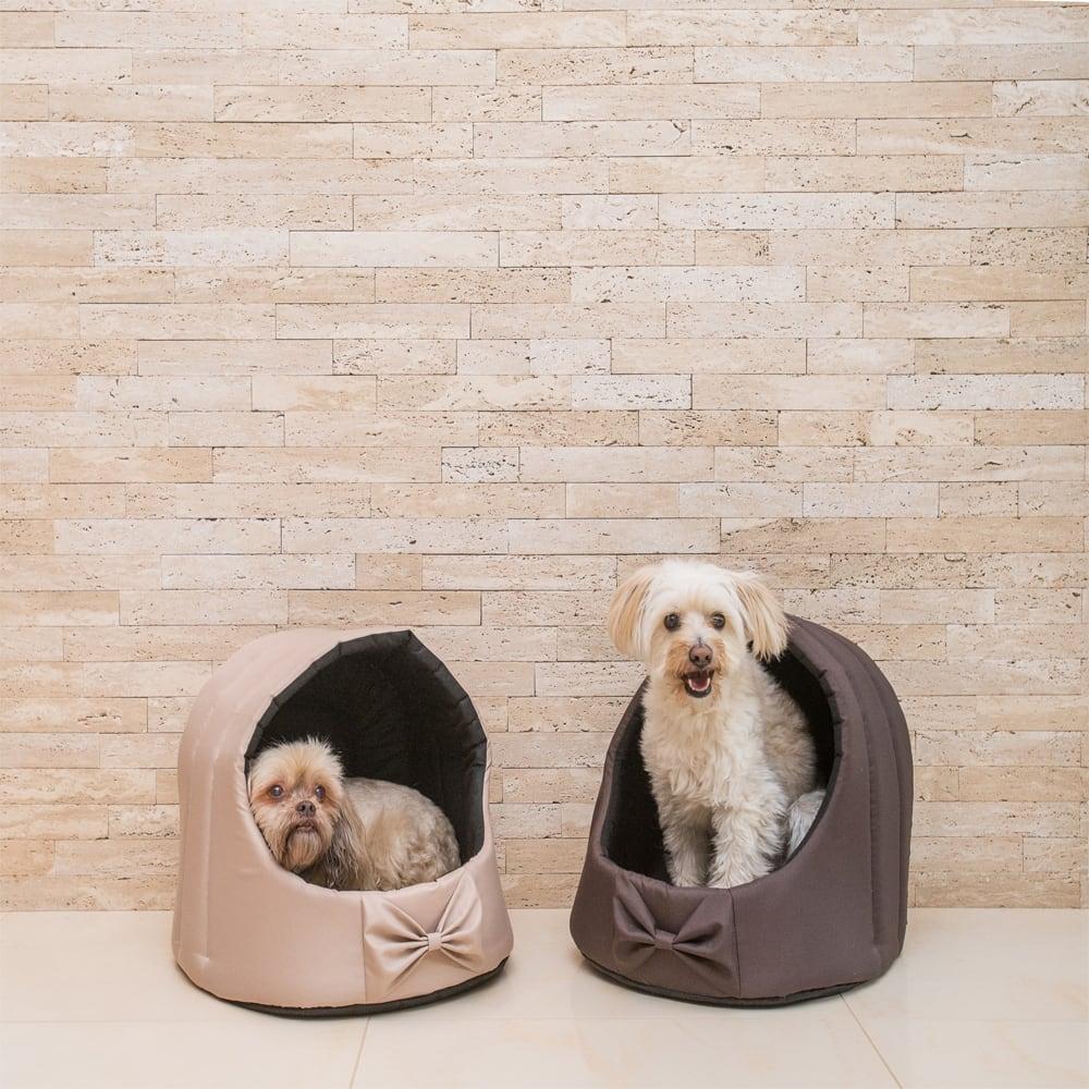 e67591798f57 Κρεβάτι Γάτας και Σκύλου Φωλιά Amiplay Basic Oval με Φιόγκο Γραφίτης Medium  40x40x42cm